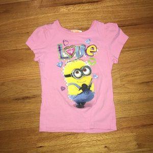 Girls Minion t-shirt, size 4T
